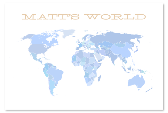 art prints - world map by Aaron
