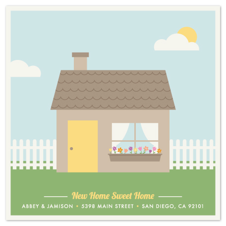 moving announcements - New Home Sweet Home by Amber Barkley