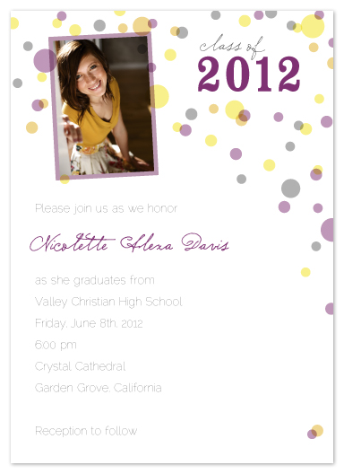 graduation announcements - Confetti Celebration by Heather Myers