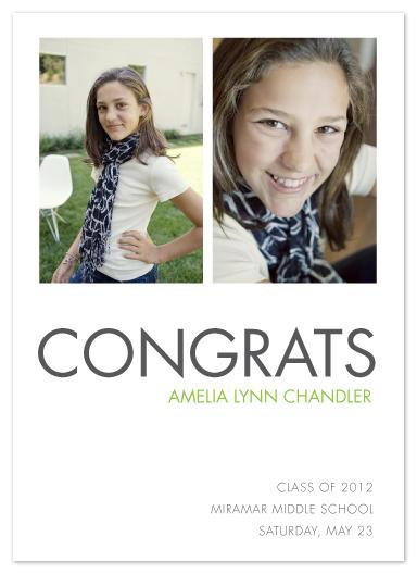 graduation announcements - simple congrats by trbdesign