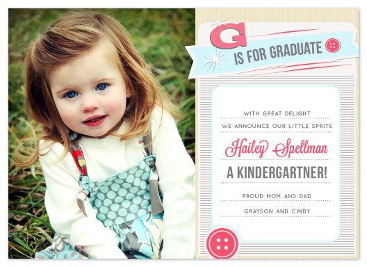 graduation announcements - Cute as a Button by That Girl Press