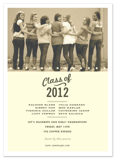 graduation announcements - graduation all-stars by Sara Hicks Malone