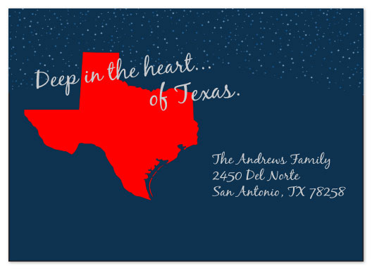moving announcements - Deep in the heart of Texas by esther designs