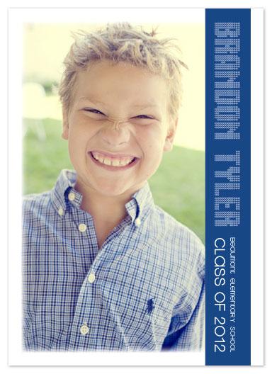 graduation announcements - Vertical Stripe by carolyncrowndesigns