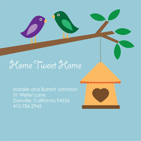 moving announcements - home tweet home  by Samantha