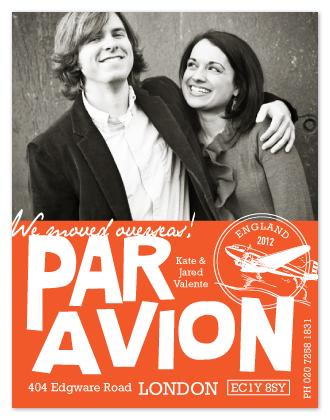 moving announcements - par avion by trbdesign