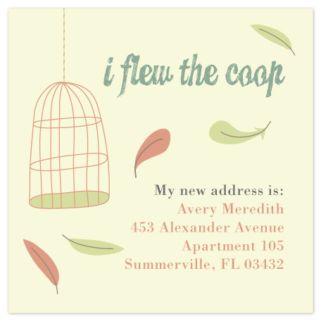 moving announcements - Flew the Coop by Sarah Throne
