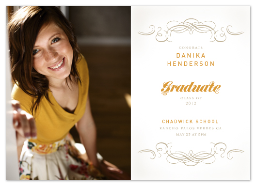 graduation announcements - a touch of class by trbdesign