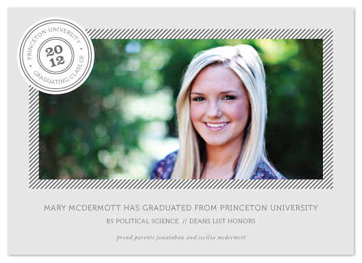 graduation announcements - Graduating Classy by Kimberly FitzSimons