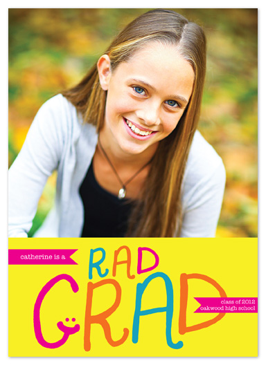graduation announcements - Rad Grad by tracey atkinson