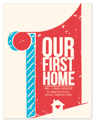 moving announcements - Our First Home by Emily Collins