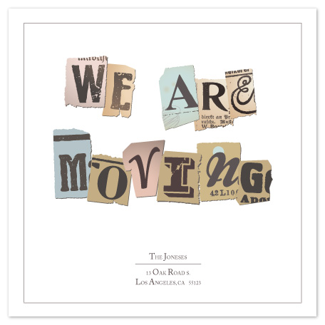 moving announcements - Torn Out by Yvette Slaney