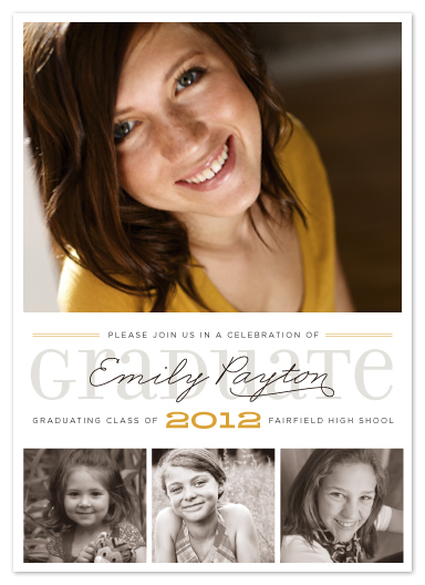 graduation announcements - Long Road by Carrie ONeal