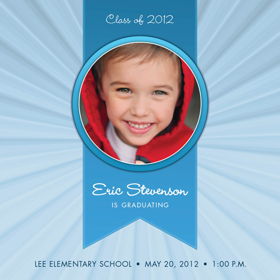 graduation announcements - Ribbon and Rays by berberlita