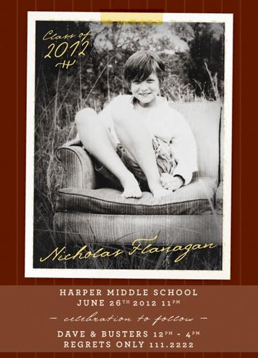 graduation announcements - Middle School by Christina Novak
