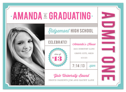 graduation announcements - Admit One by Cheer Up Press
