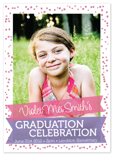 graduation announcements - Confetti Graduation Celebration by Justine Grey