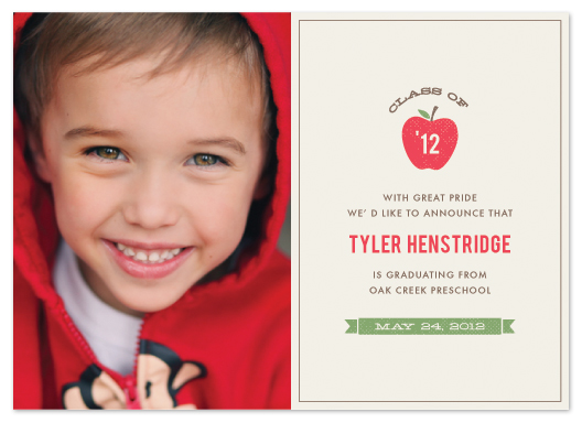 graduation announcements - Red Apple by Amber Barkley