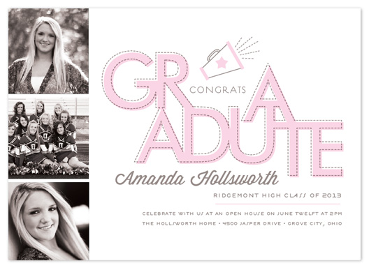 graduation announcements - Three Cheers by Cheer Up Press
