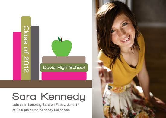 graduation announcements - Books Grad by Makell Wintle