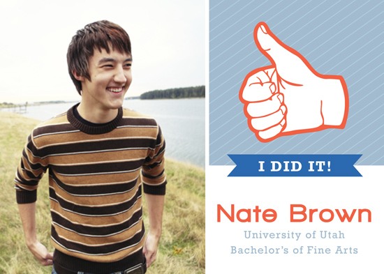 graduation announcements - Thumbs up Grad! by Makell Wintle