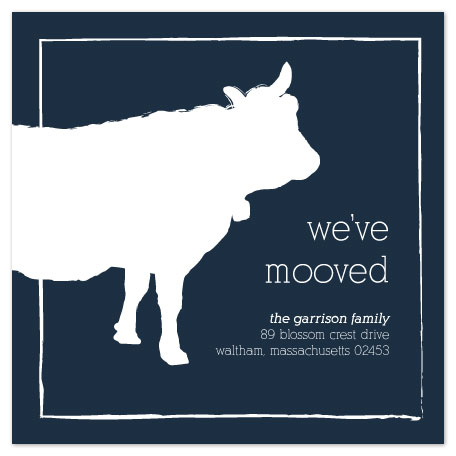 moving announcements - we've mooved by Jessica Kwok
