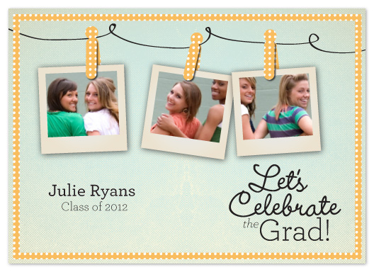 graduation announcements - Three Polaroids by Lori Wemple