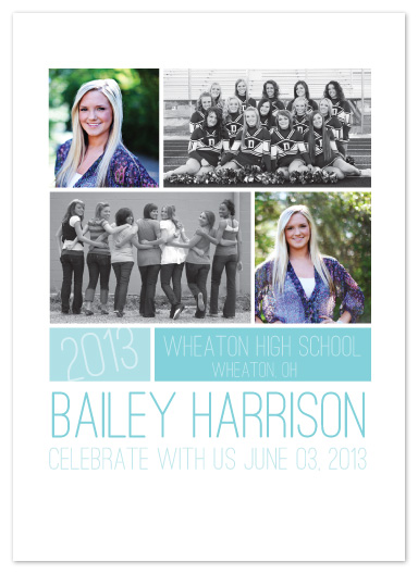 graduation announcements - Colorblock Multi-Photo by AJCreative