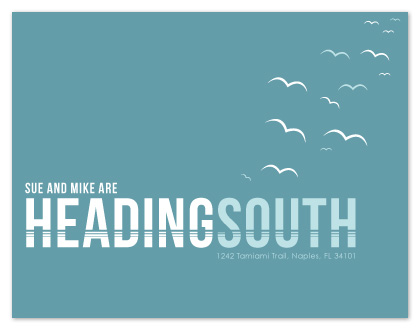moving announcements - Heading South by Kristin Haley