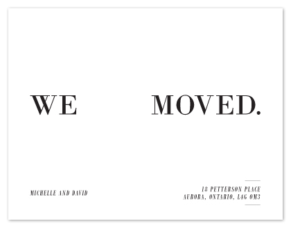 moving announcements - We Moved. by Makai Studios