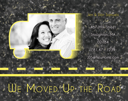 moving announcements - Up The Road by Lisa Zizza McSweeney