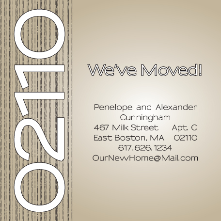 moving announcements - Bamboo Beige by Lisa Zizza McSweeney