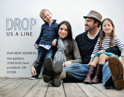 moving announcements - Drop A Line by Erika Tracy