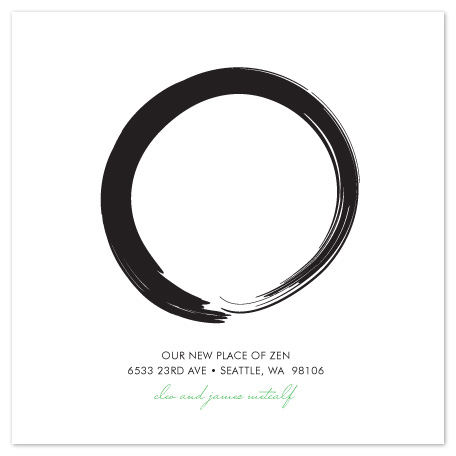 moving announcements - Zen Circle by Maria E