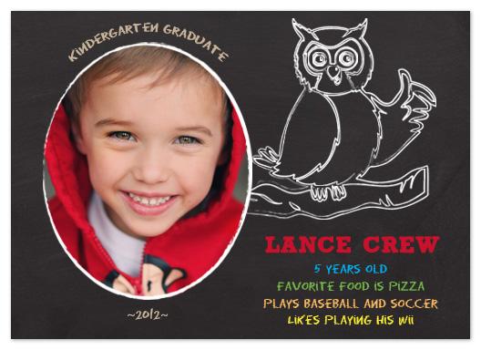 graduation announcements - Kindergarten Chalkboard Graduation Announcement by The Picture Portal