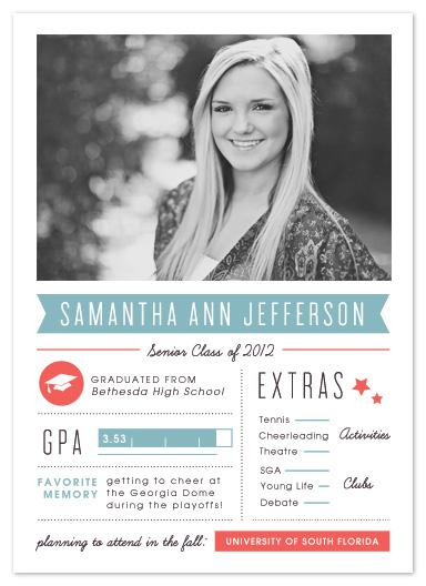 graduation announcements - Grad Stats by Kristen Smith