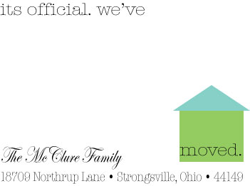moving announcements - It's Official. We've Moved. by Wendy McClure