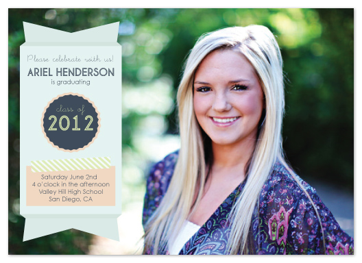 graduation announcements - Graduation Ribbon by Kathleen Niederhauser