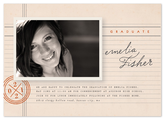 graduation announcements - Library Lover by Moglea