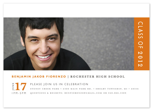 graduation announcements - Classic Stripe by Snow and Ivy
