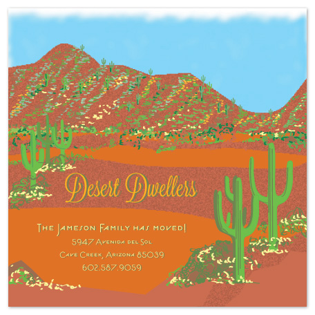 moving announcements - Desert Dwellers by Ellen Morse