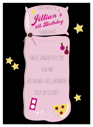 party invitations - Sweet Slumber by Heather Myers