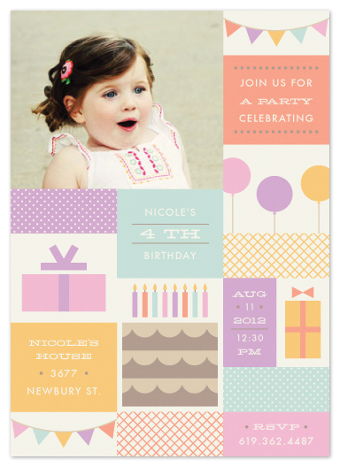 party invitations - Block Party by Amber Barkley