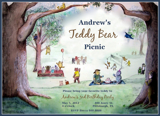 Party invitations teddy bear picnic at minted party invitations teddy bear picnic by anne rackley filmwisefo