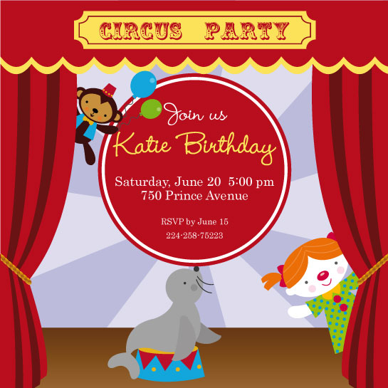 party invitations - Circus Party by Carolina Rezende