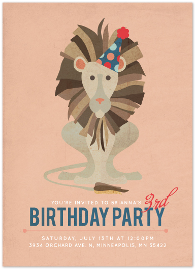 party invitations - Roaring Good TIme by Serenity Avenue