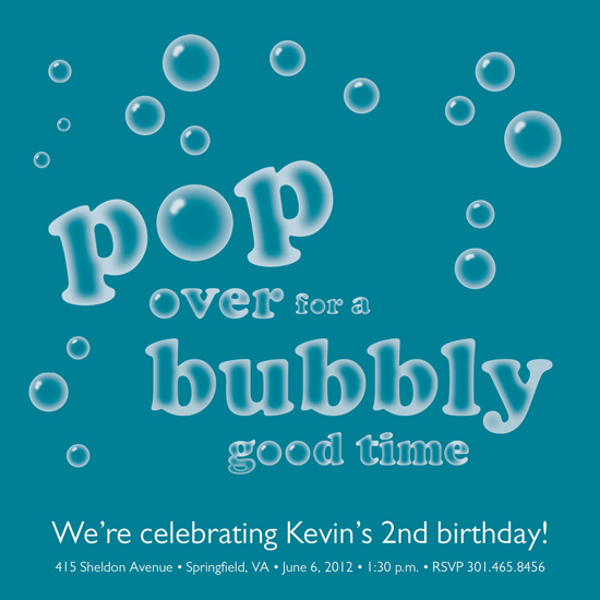 party invitations - Pop Over for a Bubbly Good Time by berberlita