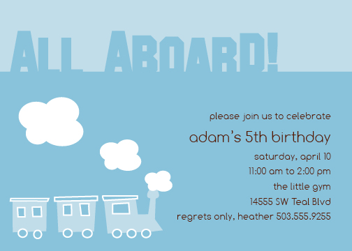 party invitations - Birthday Train by Green Ink