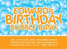 Birthday Bubble Bash by Laura New