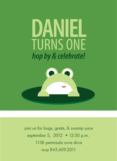 party invitations - Hoppity Birthday by Laura New